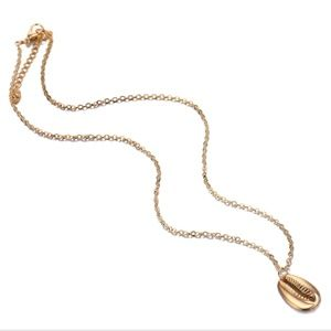 Ocean shell gold plated fashion necklace